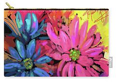 Carry-all Pouch featuring the painting Pink Flower by DC Langer
