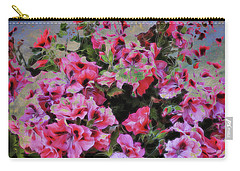 Carry-all Pouch featuring the photograph Pink Flower Fantasy by Ann Powell