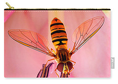 Pink Flower Fly Carry-all Pouch