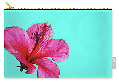 Pink Flower In Water Carry-all Pouch