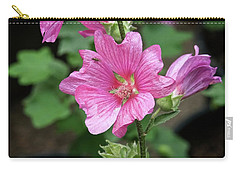 Pink Flower With Bug. Carry-all Pouch