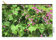 Carry-all Pouch featuring the photograph Pink Flowering Vine1 by Megan Dirsa-DuBois