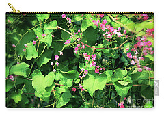 Carry-all Pouch featuring the photograph Pink Flowering Vine2 by Megan Dirsa-DuBois