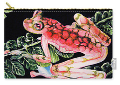 Pink Frog Carry-all Pouch