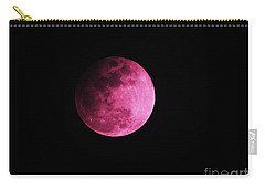 Pink Full Moon In April 2017 Carry-all Pouch by J L Zarek