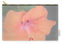 Carry-all Pouch featuring the photograph Pink Heavenly Hibiscus by Donna Bentley