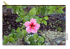 Pink Hibiscus And Wheel Carry-all Pouch