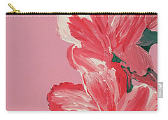 Pink Hibiscus Flowers  Carry-all Pouch