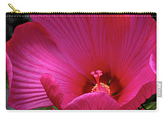 Pink Hibiscus Carry-all Pouch by Mikki Cucuzzo
