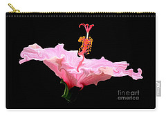 Pink Hibiscus With Curlicue Effect Carry-all Pouch