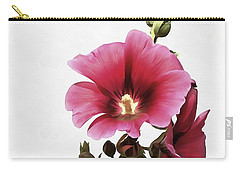 Pink Hollyhock Carry-all Pouch
