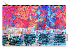 Carry-all Pouch featuring the painting Pink Horizon by Nancy Merkle