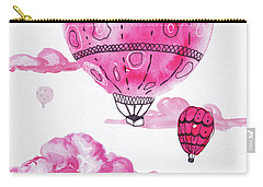 Pink Hot Air Baloons Carry-all Pouch