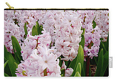 Pink Hyacinth  Carry-all Pouch by Mihaela Pater