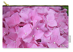Pink Hydrangea Carry-all Pouch by Elvira Ladocki