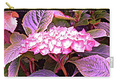 Pink Hydrangea Carry-all Pouch by Stephanie Moore