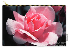 Pink In Light And Shadow Carry-all Pouch by Rebecca Davis