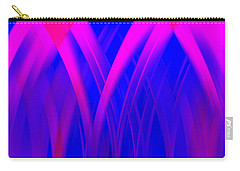Carry-all Pouch featuring the digital art Pink Lacing by Carolyn Marshall