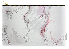 Carry-all Pouch featuring the drawing Pink Lady by Marat Essex