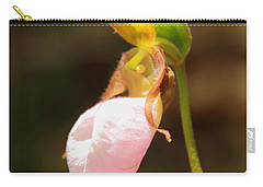 Pink Lady Slipper Carry-all Pouch by Roupen  Baker