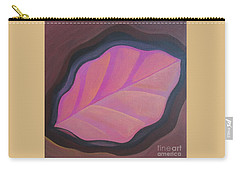 Pink Leaf Carry-all Pouch