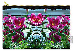 Pink Lilies Fusion Carry-all Pouch by Will Borden