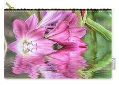 Pink Lily Flood Carry-all Pouch