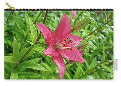 Pink Lily Flowers By Tamara Sushko  Carry-all Pouch