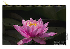 Carry-all Pouch featuring the photograph Pink Lotus by Andrea Silies