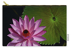 Carry-all Pouch featuring the photograph Pink Lotus by Evelyn Tambour