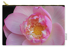 Pink Lotus Opening Carry-all Pouch