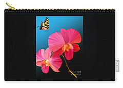 Pink Lux Butterfly Carry-all Pouch