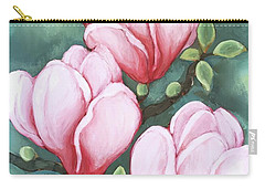 Pink Magnolia Blooms Carry-all Pouch