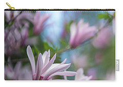 Pink Magnolia Blooms Peaceful Carry-all Pouch by Mike Reid
