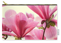 Pink Magnolias Carry-all Pouch by Peggy Collins