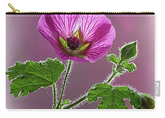 Pink Mallow Flower Carry-all Pouch