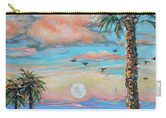Pink Moon Rise Carry-all Pouch by Linda Olsen