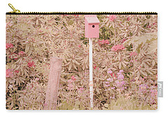 Carry-all Pouch featuring the photograph Pink Nesting Box by Bonnie Bruno