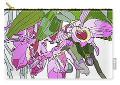 Pink Orchid Bunch Carry-all Pouch