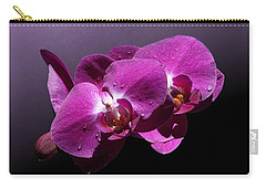 Pink Orchid Flowers Carry-all Pouch