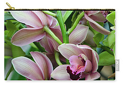 Carry-all Pouch featuring the photograph Pink Orchids 2 by Ann Bridges