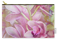 Carry-all Pouch featuring the photograph Pink Orchids by Ann Bridges