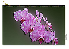 Carry-all Pouch featuring the photograph Pink Orchids by John Haldane