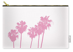 Pink Palm Trees- Art By Linda Woods Carry-all Pouch