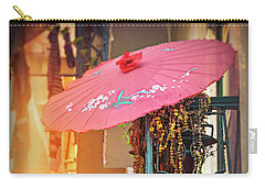 Pink Parasol On A Lisbon Balcony  Carry-all Pouch