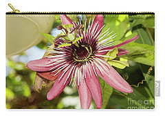 Pink Passiflora Carry-all Pouch by Elvira Ladocki