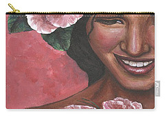 Carry-all Pouch featuring the painting Pink Passion by Alga Washington