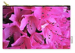 Carry-all Pouch featuring the photograph Pink Passion In The Rain by Sherry Hallemeier