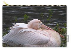 Pink Pelican Carry-all Pouch by Margaret Brooks