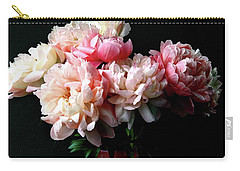 Pink Peonies In Pink Vase Carry-all Pouch